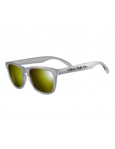 Gafas de sol California Style Co Sunset Gris mate Lente Amarilla