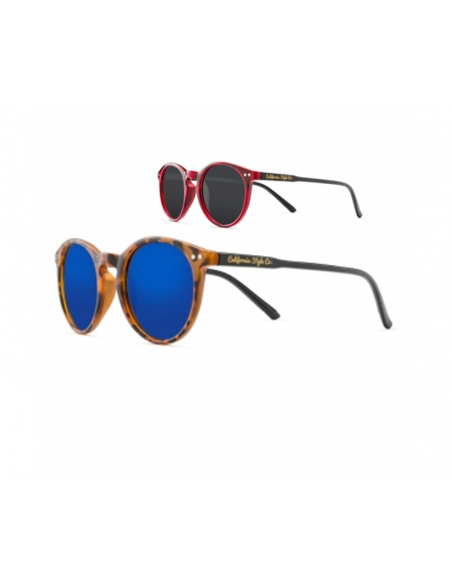 2 Gafas de sol California Style Co Angels Leopardo y Roja