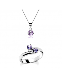 Conjunto Abril Purple(Colgante+Anillo)
